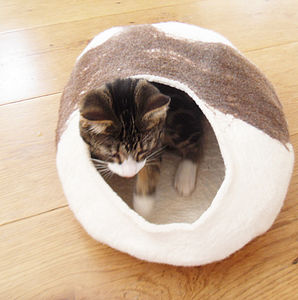 Natural Cat Bed Cocoon - beds & sleeping