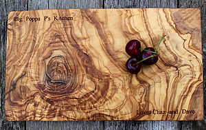 Personalised Olive Wood Serving Board - kitchen