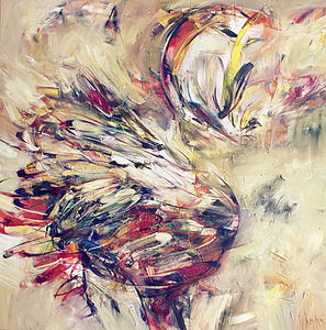 Swan Movement Print - modern & abstract