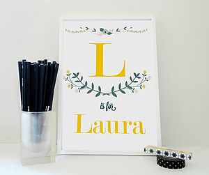 Personalised Girl's And Boy's Name Print
