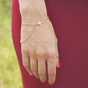 One Fell Swoop Bird And Chain Bracelet - women's jewellery