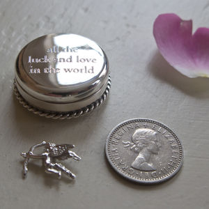 Love And Luck Sterling Silver Christening Keepsake - keepsake boxes