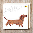 Dog Card Dachshund Sausage Dog Card