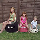 Small, Medium & Large Personalised Bean Bags