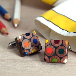 Artist Colour Palette Pencil Cufflinks - cufflinks