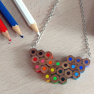 Artist Colour Palette Pencil Necklace - women's jewellery