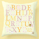Personalised Abc Baby Nursery Cushion