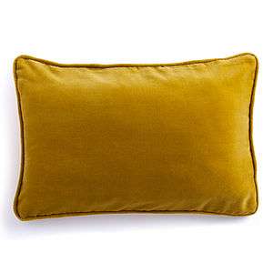 Velvet Rectangular Cushion In Seven Colours