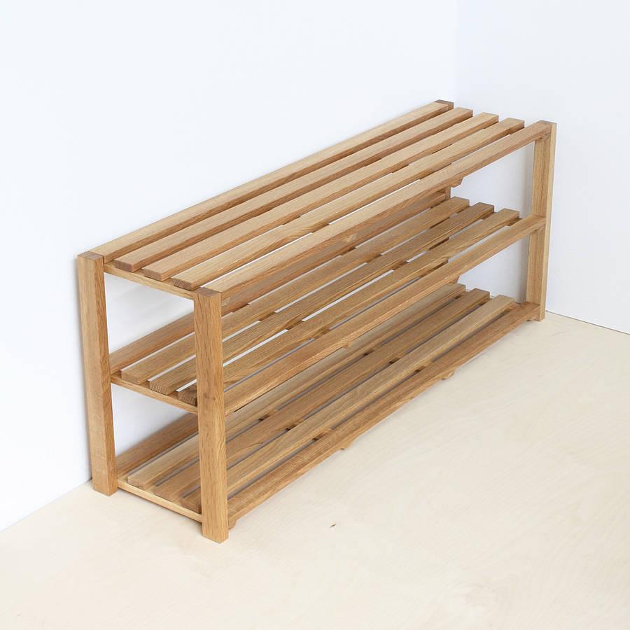 Oak Shoe Rack By A B Furniture Notonthehighstreet Com