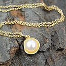 Sterling Silver And Gold Pearl Necklace