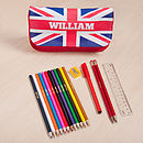 Personalised Union Jack Case And Accessories