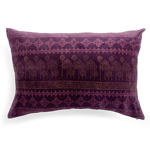 Printed Velvet Cushion - patterned cushions
