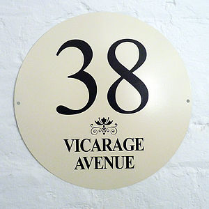Personalised Enamel House Number - art & decorations
