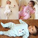 Personalised Baby Bunny Sleep Suits