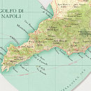 Amalfi coast map heart print detail sorrento