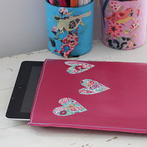 Personalised Heart Cover For iPad - laptop bags & cases