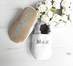 Personalised Christening Shoes - christening gifts