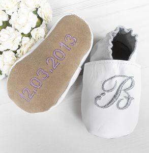 Initial Christening Shoes - christening gifts