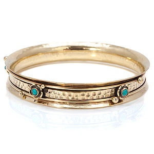 Gemstone Spinning Bangle - bracelets & bangles