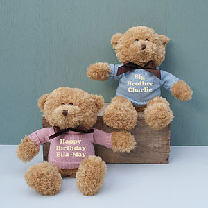 Personalised Teddy Bear Gift - soft toys & dolls