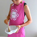 Girl's Personalised Apron