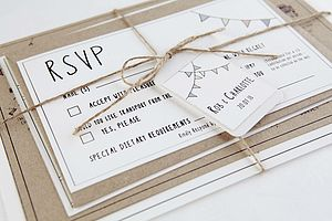 Illustrated Wedding Venue Stationery - wedding stationery