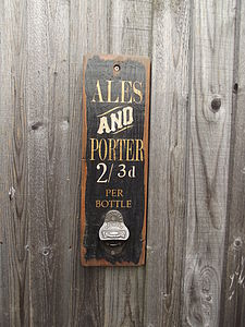 Reclaimed Bottle Opener Board - kitchen