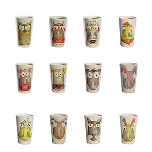 Set Of 12 Times Table Tumblers - children's tableware