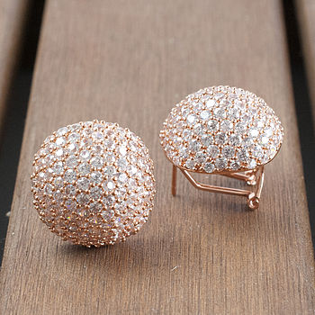 Rose Gold Diamante Statement Earrings