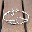 Infinity Silver Diamante Bracelet