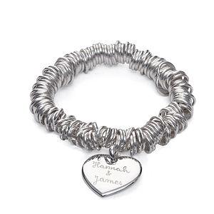 Lover's Personalised Silver Coil Bracelet - bracelets & bangles