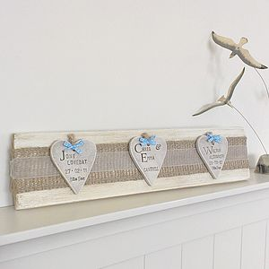 Personalised Wooden Family Tree Art - hanging decorations