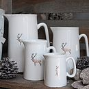 Stag And Snow China Jug