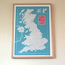 Great Place Names Of Great Britain Print