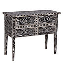 Bone Inlay Four Drawer Chest