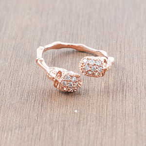 Rose Gold Skull Ring - rings