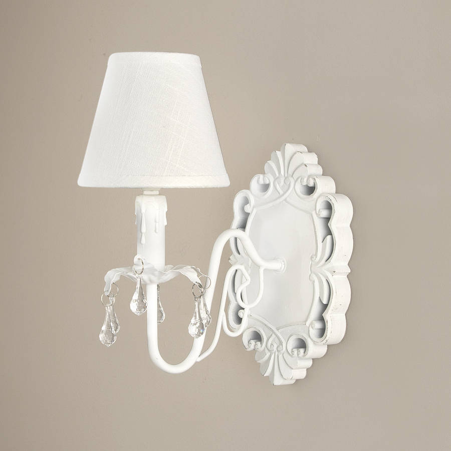 French White Ornate Wall Light