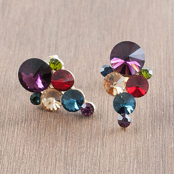 Multi Coloured Chandelier Crystal Earrings