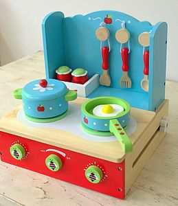 Toy Folding Cooker And Pan Set - pretend play & dressing up