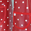 Red Spotty Oilcloth Apron