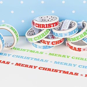 Merry Christmas Decorative Sticky Tape - cards & wrap