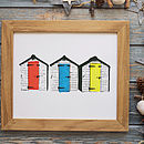 Personalised Beach Huts Print