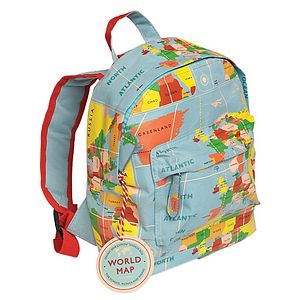 World Map Mini Rucksack
