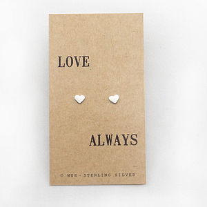 'Love Always' Silver Earrings - earrings
