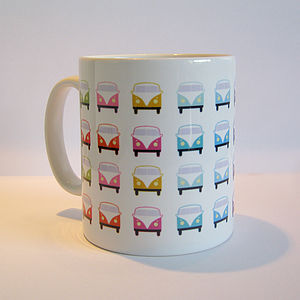 Colourful Retro Campervan Mug - tableware