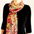 Hectic Lines Silk Scarf