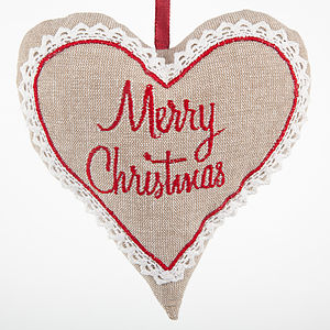 Merry Christmas Heart - tree decorations
