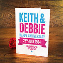 Personalised Bold Anniversary Card