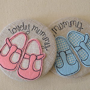 Personalised Baby Shoe Mirror - for new mothers