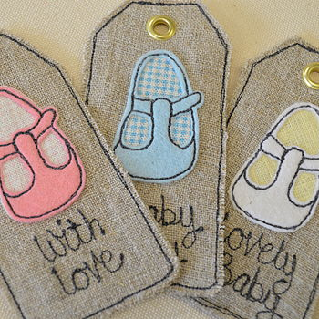 Baby Shoe Personalised Tag